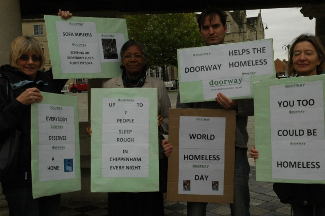 Doorway World Homeless Day Flash Mob c