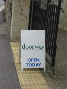 Doorway sign