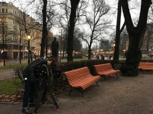 Filming in Helsinki