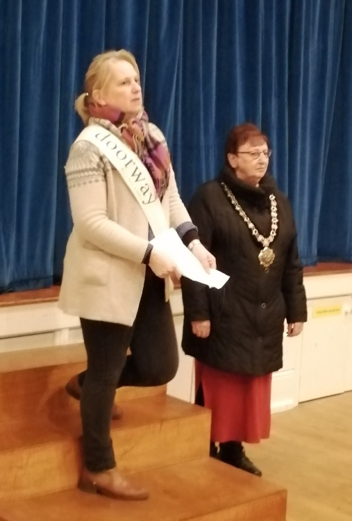 Jo Kitching with Mayor Desna Allen